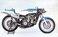 1974 Suzuki RG500 XR14 - water cooled, 2-cycle, square four rotary disk valve of 500cc