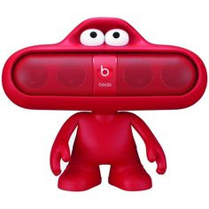 Beats Dude Stand for Pill Portable Speaker (Red) ❤ liked on Polyvore featuring electronics and home