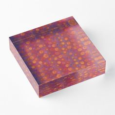 """Candy field, pink & orange"" Acrylic Blocks by clipsocallipso 