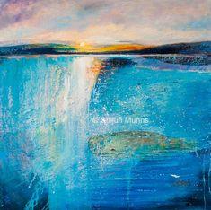 Amazing Ocean I, oil on canvas 24x24 2014 (C) Shijun Munns Landscape - Shijun Art  #Art #OilPaintings  #painting Landscape Art, Landscape Paintings, Thing 1, Oil Painters, Ocean Art, Blue Art, Fine Art America, Original Paintings, Art Prints