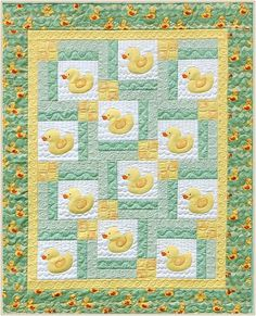 Flower Applique Quilt Patterns | That was all fine and dandy, but try to find some duck fabric in green ...
