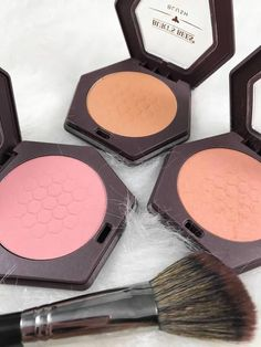Drugstore Blush #LipstickColors Drugstore Makeup Dupes, Makeup Swatches, Burt's Bees Blush, Basic Makeup Kit, Drugstore Blush, Natural Glowy Makeup, Makeup Needs, Best Makeup Products, Beauty Products