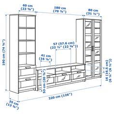IKEA BRIMNES TV storage combination/glass doors - casas y cocinas - Shelves Brimnes, Glass Cabinet Doors, Glass Shelves, Glass Doors, Wall Shelves, Tv Wall Design, Tv Unit Design, Glass Tv Unit, Tv Bank