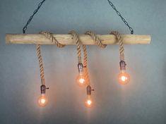 Wooden Chandelier, Wood Lamps, Chandelier Lighting, Concrete Ceiling, Loft Interiors, Ceiling Canopy, 12v Led, Interstellar, Living Room Lighting