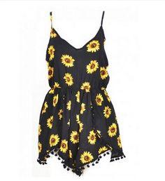 Black Sunflower Romper - Summer Style 2015