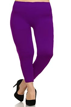 Basico Womens Plus Size Fashion Leggings Purple -- Learn more by visiting the image link.