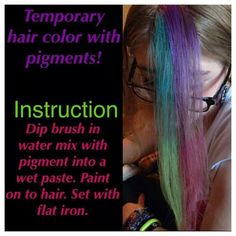 temp hair color with dry pigments