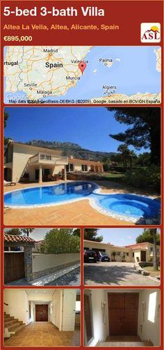 5-bed 3-bath Villa in Altea La Vella, Altea, Alicante, Spain ►€895,000 #PropertyForSaleInSpain