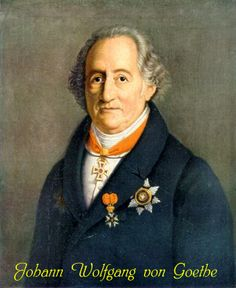 Johann Wolfgang von Goethe  1749-1832. One of the most important German language authors. Creator of works as a writer, poet, dramatist, theologian and scientist.