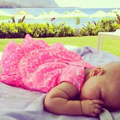 Napping in style via LillyPulitzer Instagram