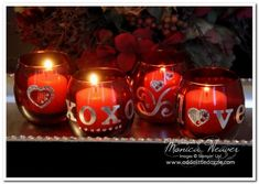 Metal Foil Tape Sheets Valentine's Day Votive Candles
