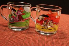 Collectible vintage McDonald's Garfield glass by HonorableMommy
