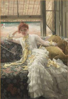 Seaside (July: Specimen of a Portrait), 1878 James Tissot (French, 1836-1902) oil on fabric 1980.288