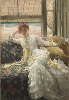 Seaside (July: Specimen of a Portrait), 1878 James Tissot (French, 1836-1902) oil on fabric 1980.288