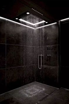 Bathroom Tub Shower, Bathroom Black, Small Bathroom, Bathroom Mirrors, Bathroom Cabinets, Relaxing Bathroom, Bathroom Canvas, Minimal Bathroom, Shower Tiles
