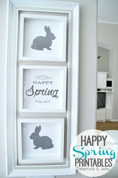 Happy Spring Free Easter Printables at Tatertots and Jello -- #DIY #Spring