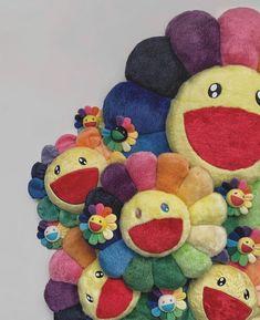 Retro Wallpaper, Flower Wallpaper, Takashi Murakami Art, Murakami Flower, Complex Art, Japan Shop, Indie Room, Happy Flowers, Happy Vibes