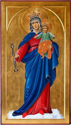 Maria Ausiliatrice (dallla pala dell'altare di Don Bosco - Torino)