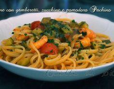 Mangiando un piatto di pasta con gamberetti, zucchine e pomodorini è impossibile non esclamare Viva l'Estate!!!
