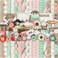FREE Sprinkles from Harper Finch newsletter sweet dessertpaper and collage elements