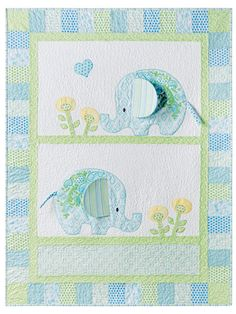 """Exclusively Annie's Bobo Baby Quilt Pattern & Panel ~ easy ~ finished size 44"""" x 54"""" ~ 3-d ears ~ QUILTING ~ this is simply too cute! what a fantastic gift this would make for shower or new baby"""