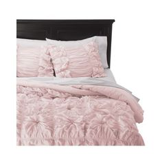 Rizzy Home Pink Knots Texture Comforter Set ($230) ❤ liked on Polyvore featuring home, bed & bath, bedding, comforters, king size bedding ensembles, twin bedding sets, king size comforter set, king bedding sets and queen bedding sets