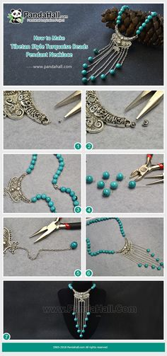 How to make #tibetan style #necklace with #Beebeecraft beads