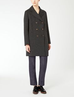 Max Mara TATIANA grey: Wool and angora coat.