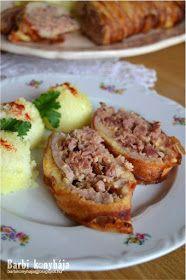 Barbi konyhája: Karajba zárt csülök Meatloaf, Baked Potato, Bacon, Food And Drink, Potatoes, Cooking, Ethnic Recipes, Recipes, Potato