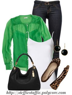 Love it all!! Esp love the green the flats are ok but I would do a heel in leopard like the once from October fix