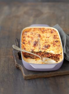 Moussaka d'aubergines - homemade pizza Pizza Recipes, Healthy Dinner Recipes, Snack Recipes, Cooking Recipes, Eggplant Moussaka, Musaka, Twice Baked Potatoes, Greek Recipes, Naan