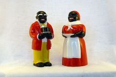 Salt Pepper Shakers - Black Americana - Aunt Jemima Uncle Mose