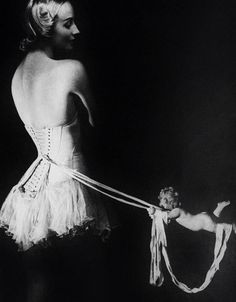 August, 1939: The Mainbocher corset, photographed for Harper's Bazaar by Erwin Blumenfeld