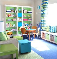 I like the idea of painting just the back of the bookcase - could spruce up a rental where you can't paint the wall