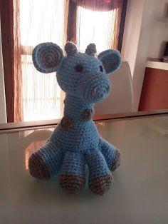 L'uncinetto di Simo e Isa: giraffina azzurra