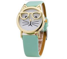 Pawsome Trendy Cat Watch with Glasses