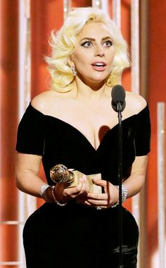 Lady Gaga Wins Best Actress Golden Globe Award (and Forgets to Thank Fiancé Taylor Kinney?Oops!) | E! Online Mobile