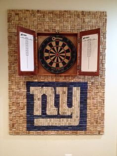 Personalized Cork Dart Board