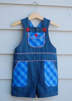 Shortalls - FREE pattern and tutorial, sizes 2/3T.  Lots of cute details!!