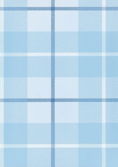 Ranold Wallpaper Tartan wallpaper in pale blues with darker blue and white