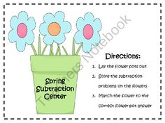 Spring Double Digit Subtraction Math Center FREEBIE from Klever Kiddos on TeachersNotebook.com (10 pages)