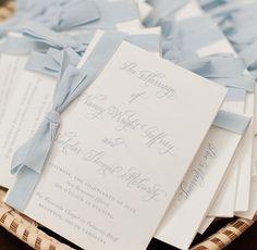 Inn at Palmetto Bluff Wedding Blue Wedding Invitations, Wedding Stationary, Ceremony Programs, Wedding Programs, Wedding Bra, Wedding Stuff, Wedding Ideas, Something Old Something New, Palmetto Bluff