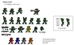 Halo sprites that could be recreated with perler beads