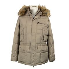 Giaccone uomo imbottito con cappuccio - Beige - Invernale. € 149,60. #hallofbrands #hob #jackets #coats #giubbotti #giaccone #invernale #wintry #winter