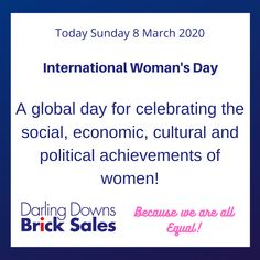 #internationalwomansday #equalityforwomen #darlingdownsbricksales #landscapesupplies #landscapingtoowoomba