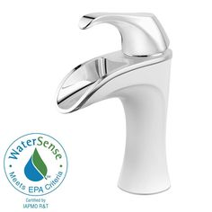 Brea 4 in. Centerset 1-Handle Bathroom Faucet in Chrome/White
