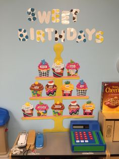 My classroom birthday board.