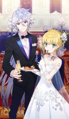 Arturia e Merlin (Gala) Anime Love, Anime Guys, Manga Anime, Anime Art, Fate Zero, Fate Stay Night, Saber Fate, Arturia Pendragon, Fate Servants