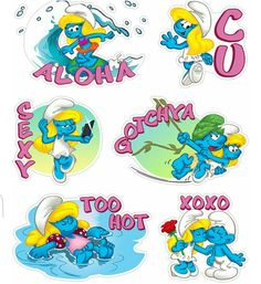 Stickers Summer Smurfs