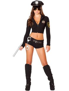 Women's Sexy Officer Hottie Costume | Wholesale Police/Firefighter Costumes for Adults